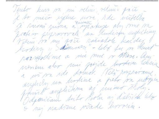 Klára – nebojím sa použiť angličtinu aj mimo školy
