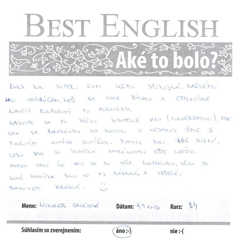 """Niky: """"Rýchle a efektívne učenie sa po anglicky."""""""