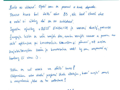 """Matúš: """"Systém výučby vBest English je naozaj skvelý, pretože funguje."""""""