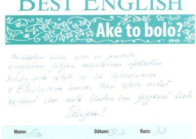 """Alena: """"Takú istotu achuť rozprávať Vám nedá žiadna iná jazyková škola."""""""